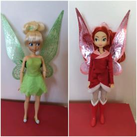 Disney Store Fairies Dolls £5 each Flutter fairy tinkerbell rose