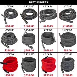 Crossfit Endurance Battle Battling Woven Nylon Covered Rope