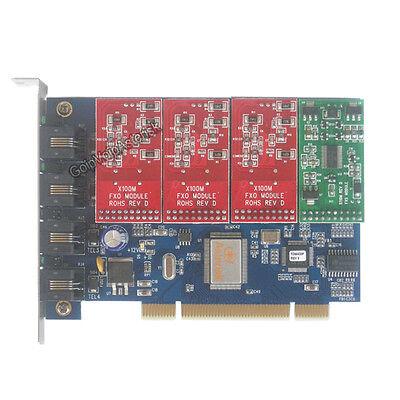 TDM400P 3FXO +1FXS Asterisk card PCI card for trixbox freepbx elastix voip pbx