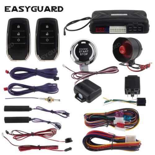 EASYGUARD pke car alarm system keyless entry auto start push button shock sensor