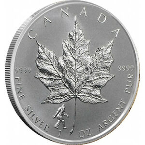 silver Maple leaf Big foot Privy reverse proof 1 oz 2016