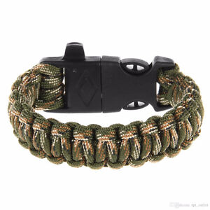 2 IN ONE PARACORD SURVIVAL BRACELETS 50% OFF NEW 2 FOR $5 SALE