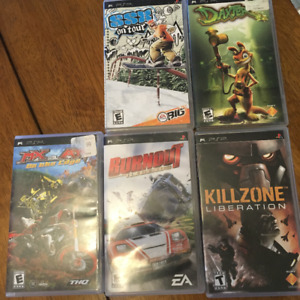 Five PSP Games for sale