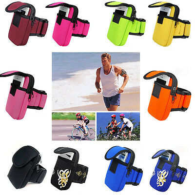 New Outdoor Sports Running Wrist Pouch Mobile Cell Phone Arm Band Bag Wallet