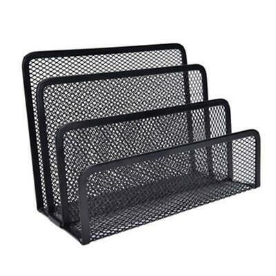 4 Tier Office Desk Document File Magazine Paper Organiser Holder Rack Stand Mesh