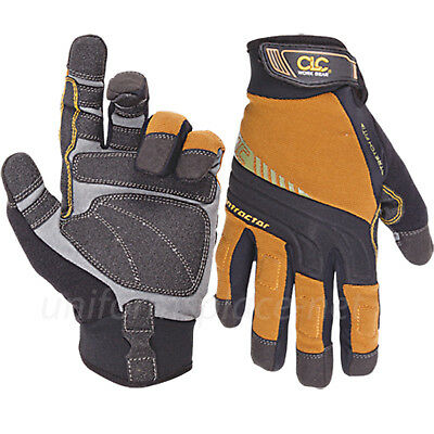 Clc Work Gloves Mens Flex Grip Contractor Xc Stretch-fit Gloves 160