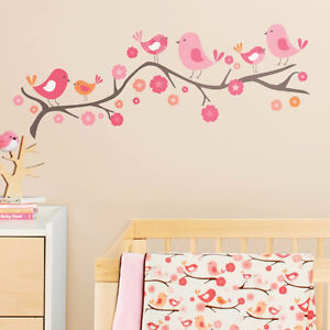 Wall stickers Décoration murale Birds on a branch baby girl room West Island Greater Montréal image 2