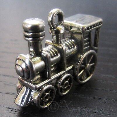 Train Charms - Wholesale 3D Antique Silver Plated Pendants C0029 - 2, 5 Or 10PCs