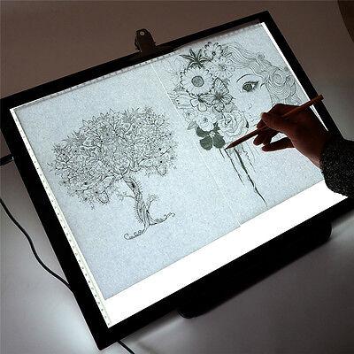 """19"""" LED Artist Stencil Board Tattoo Drawing Tracing Table Display Light Box Pad"""
