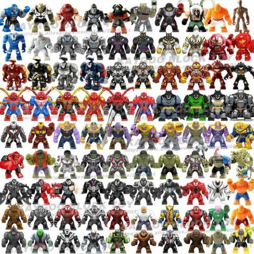 Big Figures Super Hero Thanos Hulk Iron Spider Man Batman Panther Block Toy Kids