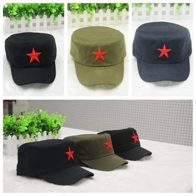 China Red Army Cotton Cap Hat Red Star Chairmen Mao Communist Party Men's Gift - Red Party Hat