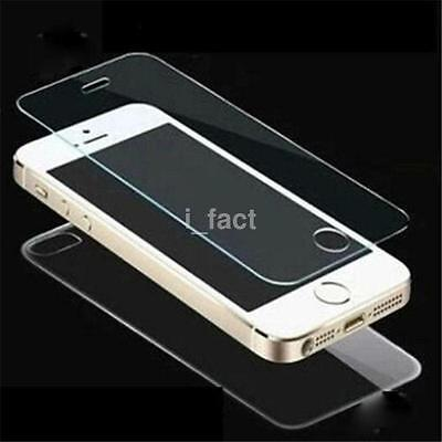 2.5D 9H Front+Back Colour Tempered Glass Screen Protector For iphone 5S/SE 6S SZ
