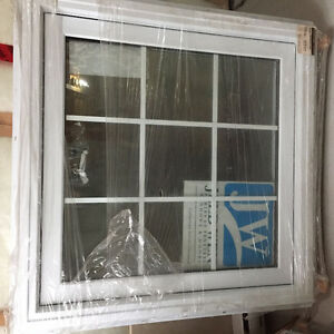 "Two 36"" Jeld-Wen windows"