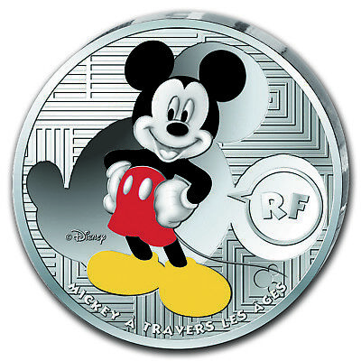 2016 France Silver €10 Mickey Through the Ages Proof - SKU #104211