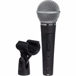 Shure SM58 Dynamic Vocal Microphone with Mic clip