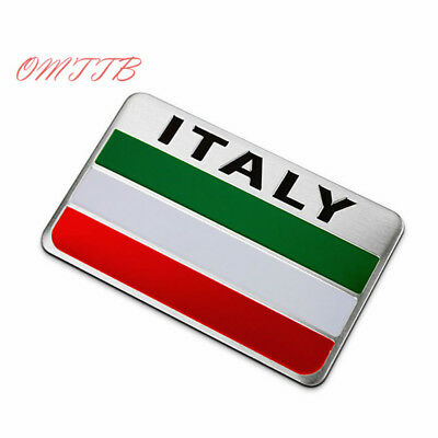 c9/2,   Auto Alloy Metal 3D Emblem Badge   Sticker  ITALY Italian Flag