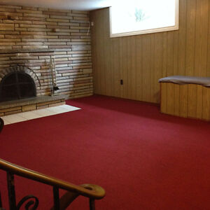 Spacious, clean two bedroom basement apartment in a family home