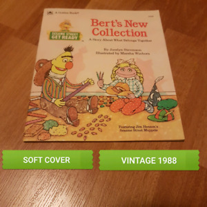 VINTAGE SESAME STREET BOOK.  PRICES IN AD