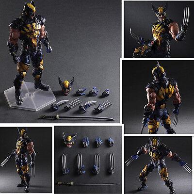 28cm Play Arts Kai Wolverine X-Men Deadpool Action Figur Spielzeug Toys Neu BOX