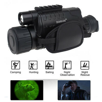 Hunting Night Vision Telescope Portable Infrared Camera Video Monocular 5X Zoom