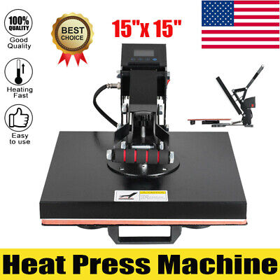 15x15 Inch Heat Press Machine Digital Transfer Sublimation Clamsh For T Shirts