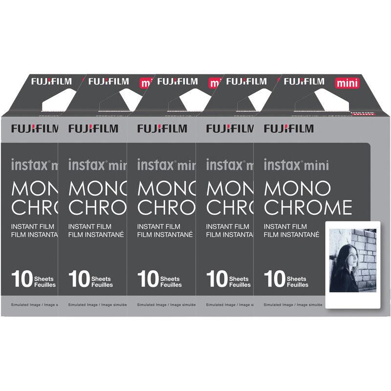 Fuji 50 Prints Fujifilm Instax Mini B/w Monochrome Instan...
