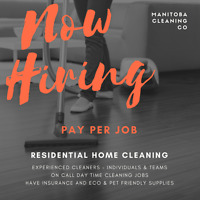Looking for individual cleaners & two person cleaning teams