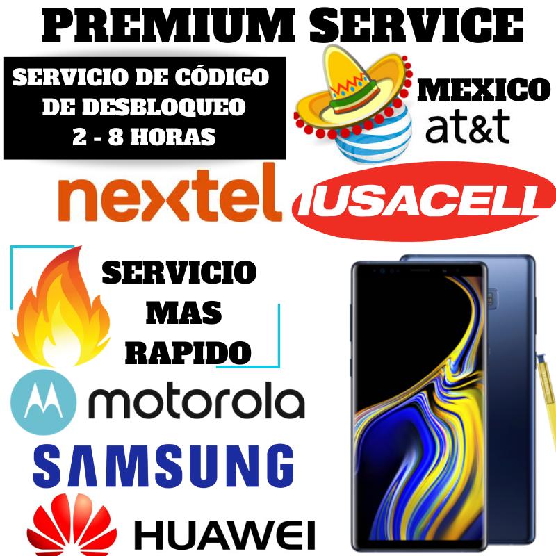 Mexico - NEXTEL,AT T MX, IUSA, UNEFON ATT Mexico - UNLOCK CODE MAS RAPIDO - $3.99