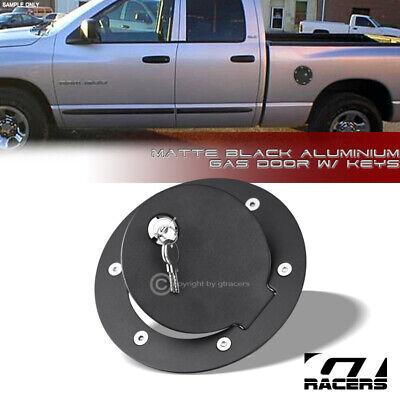 For 2002-2009 Dodge Ram 1500 2500 Matte Black Aluminum Fuel Gas Door Cover Lock