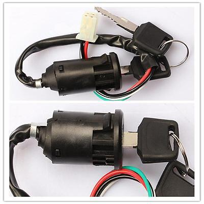 Newest Off Road Motorcycle 4 Wire Ignition Switch & Lock With Key Chinese ATV~
