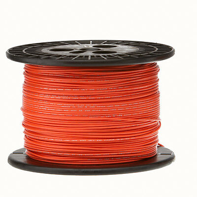 20 Awg Gauge Solid Hook Up Wire Orange 1000 Ft 0.0320 Ul1007 300 Volts