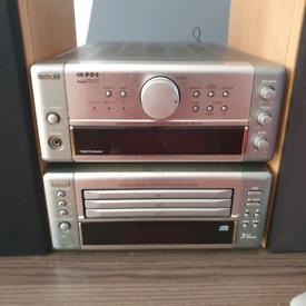 DENON hi-fi system, amplifier, tuner, cd changer,speakers