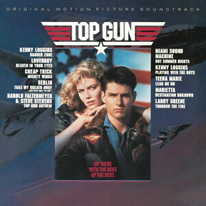 "Top Gun Original Motion Picture Soundtrack 12"" Vinyl Record."