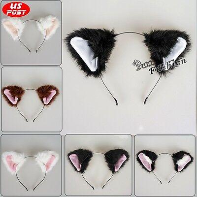 Lolita Cosplay Cat Ears Cute Headbands Fur Accessories Daily Lovely Halloween