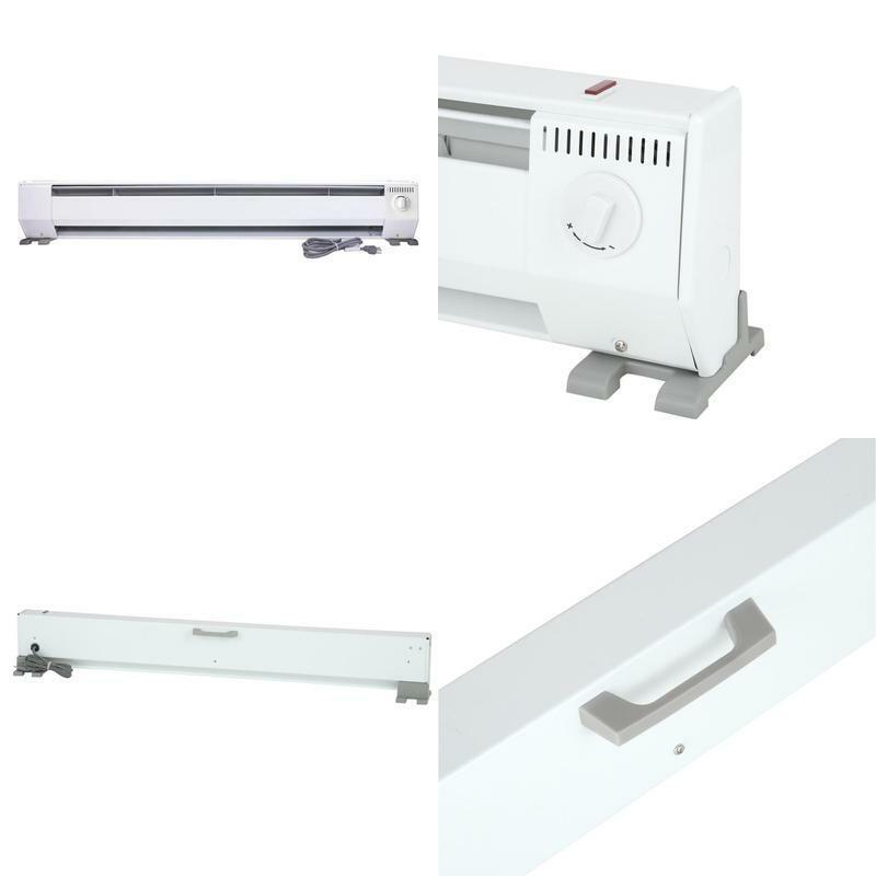 48 In. 1000-Watt 120-Volt Portable Baseboard Heater In Brigh