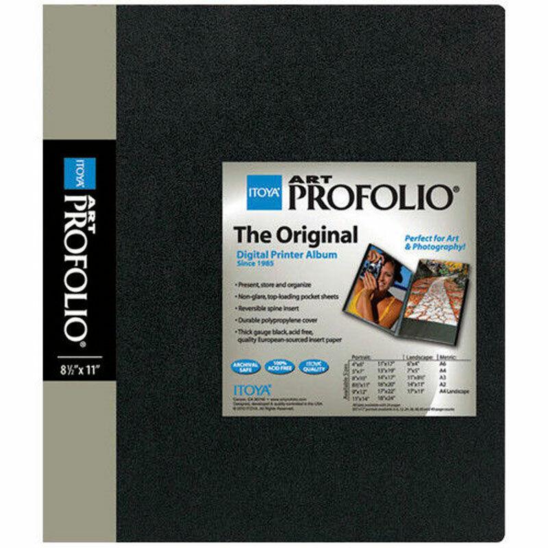 "Itoya Art Profolio Presentation Book 8.5 x 11""Album 48 Pages 96 Views IA-12-8-48"