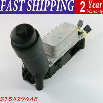 NEW 5184294AE Oil Filter Adapter Housing For Chrysler Dodge Jeep 3.6L V6 2011-13