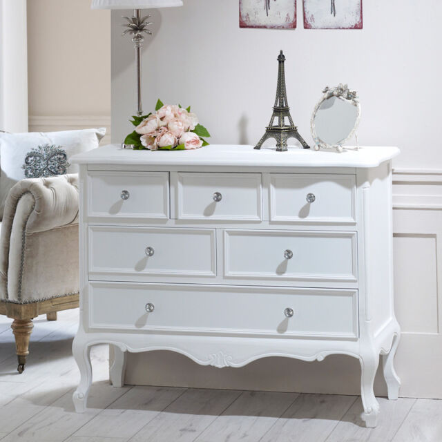 vintage chic bedroom furniture. White Chest Of Drawers French Shabby Chic Painted Bedroom Furniture Vintage Home