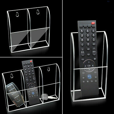 TV AirConditioner Remote Control Holder 1-3 Case Acrylic Wall Mounts Storage Box (Air Conditioner Remote Control)