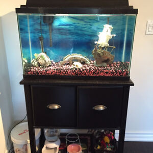 30 gallon tank with stand and decorations