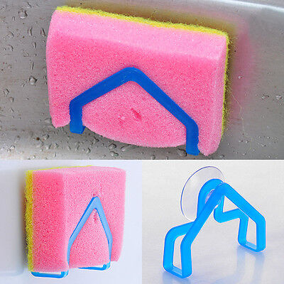 Kitchen Brush Holder Sponge Suction Cup Sink Draining Towel Rack Washing BH