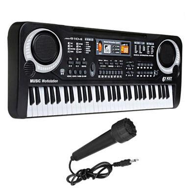 61 Keys Music Electronic Keyboard & Microphone LED Piano Organ W/ Mic & Adapter