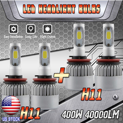 LED Headlight Bulb for 2007-2019 Nissan Altima High Low Beam H9 H11 400W 40000LM for sale  USA