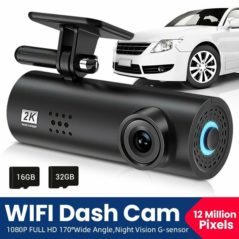 WIFI Car Dash Cam Hidden Car DVR Camera Recorder Night Vision G-Sensor 1080P HD