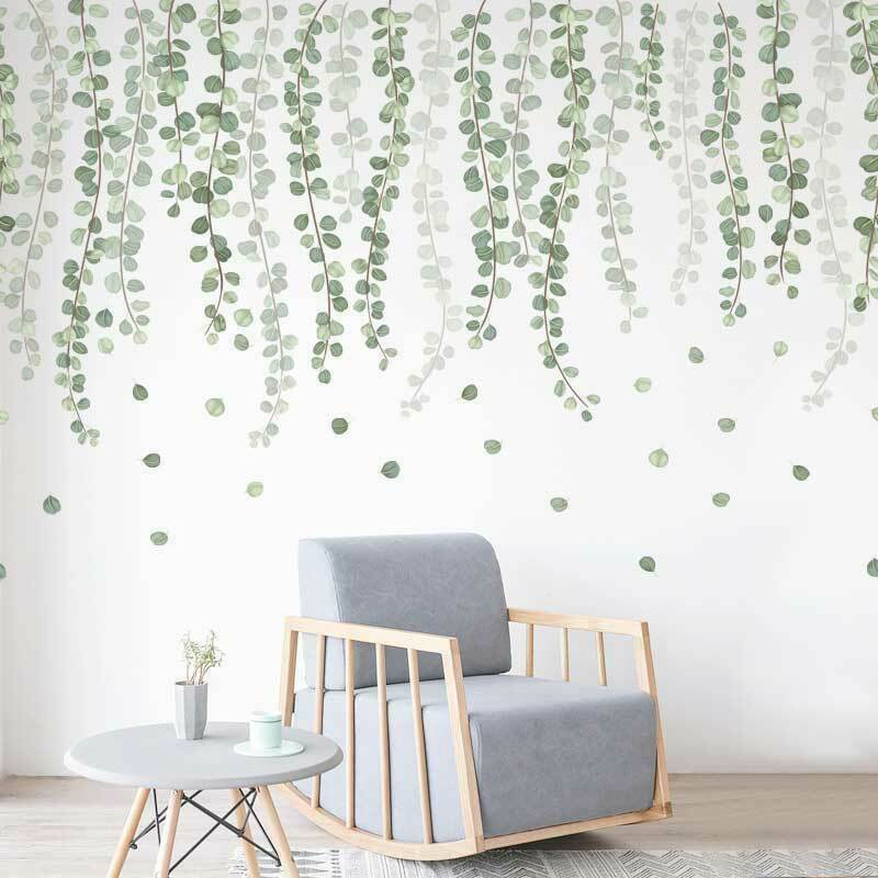 Home Decoration - Foliage Branch Leaves Wall Stickers Vinyl Decal Home Office Decor Art Mural DIY
