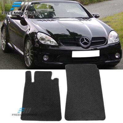 For 05-10 Mercedes Benz SLK Black Nylon Floor Mats Carpets 2PC