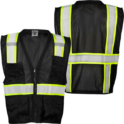 Reflective Mesh Safety Vest W Pockets 2 Tone Surveyor Vest High-visibility
