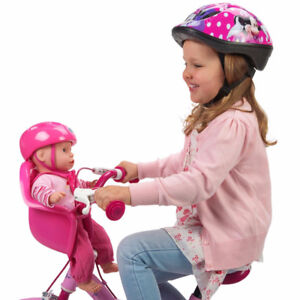 Doll with bike seat & helmet - attaches to child's bike