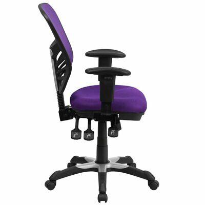 Scranton Co Mid Back Mesh Swivel Office Chair In Purple