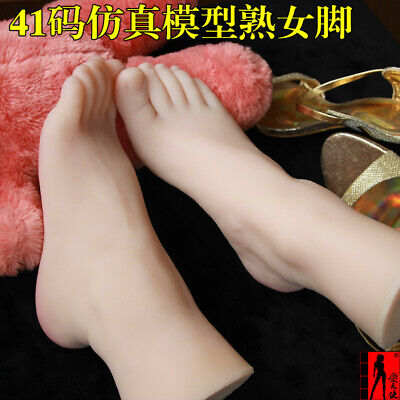 Big Us 9 Female Full Silica Realike Simulation 1 Pair Feet Model Collection Foot